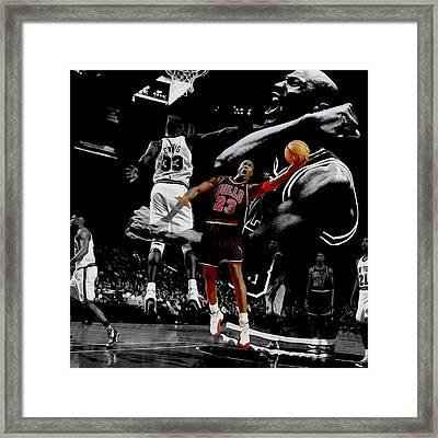 Michael Jordan Left Hand II Framed Print by Brian Reaves