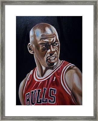 Michael Jordan Framed Print by Mikayla Ziegler