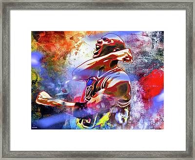 Michael Jordan Painted Framed Print by Daniel Janda