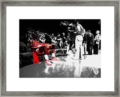 Michael Jordan Ready To Go II Framed Print by Brian Reaves