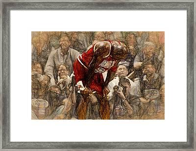 Michael Jordan The Flu Game Framed Print by John Farr