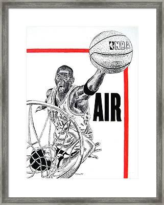 Michael Jordan Framed Print by Vincent Wolff