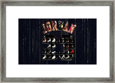 Michael Jordan Wood Art 2j Framed Print by Brian Reaves