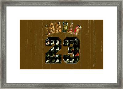 Michael Jordan Wood Art 2k Framed Print by Brian Reaves