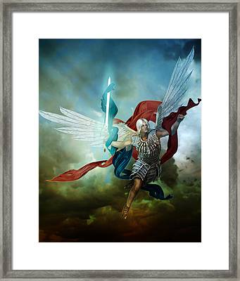Michael Framed Print by Mary Hood