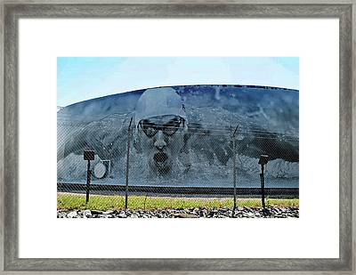 Michael Phelps On Under Armour Title Tank,  Baltimore Framed Print by Chet Dembeck