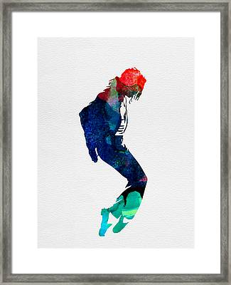 Michael Watercolor Framed Print by Naxart Studio