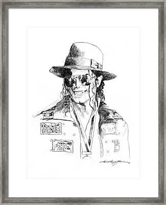 Michael's Jacket Framed Print by David Lloyd Glover