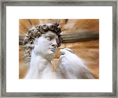 Michelangelo's David 2  Framed Print by Jen White
