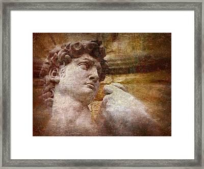 Michelangelo's David Framed Print by Jen White