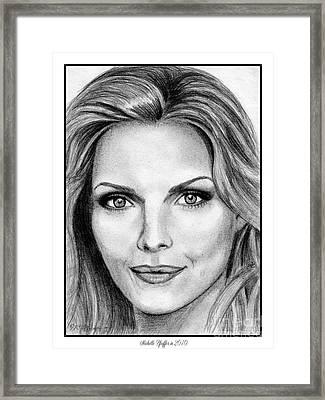 Michelle Pfeiffer In 2010 Framed Print by J McCombie
