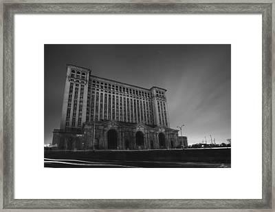 Michigan Central Station At Midnight Framed Print by Gordon Dean II