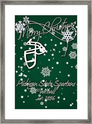Michigan State Spartans Christmas Card Framed Print by Joe Hamilton
