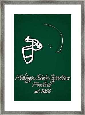 Michigan State Spartans Helmet Framed Print by Joe Hamilton