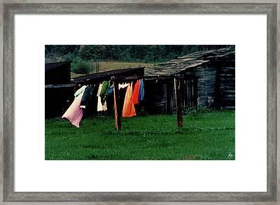 Michigan Washday Framed Print by Wayne King