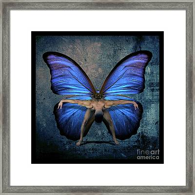 Mick Blue  Framed Print by Mark Ashkenazi