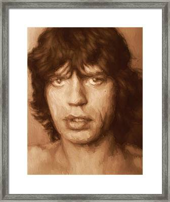 Mick Framed Print by Dan Sproul