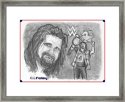 Mick Foley Framed Print by Chris  DelVecchio