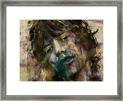 Mick Jagger @ Gimmie Shelter  Framed Print by Paul Lovering
