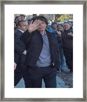 Mick Jagger Framed Print by Andrea Lawrence