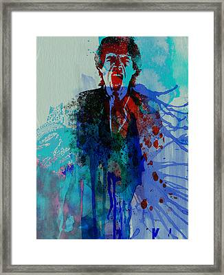 Mick Jagger Framed Print by Naxart Studio