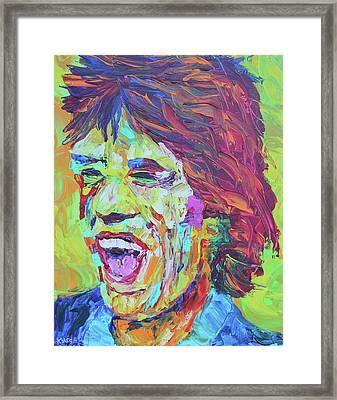 Mick Jagger Framed Print by Robert Kirsch