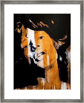 Mick Jagger Satisfaction Framed Print by Brad Jensen