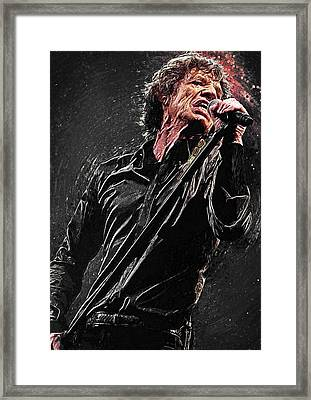 Mick Jagger Framed Print by Taylan Soyturk