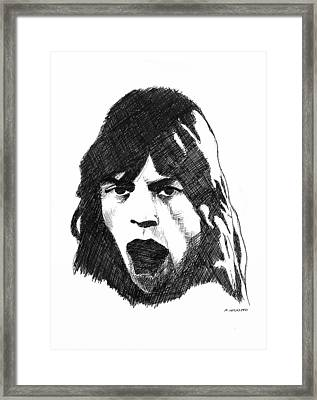 Mick Framed Print by Michael Wicksted