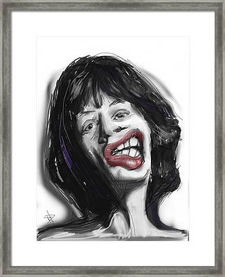 Mick Framed Print by Russell Pierce