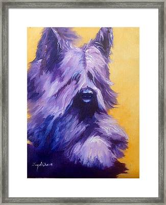 Mick Skye Terrier Framed Print by Terry  Chacon