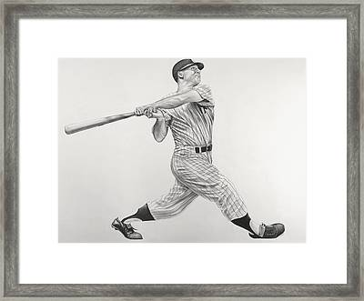 Mickey Mantle Framed Print by Jon Cotroneo