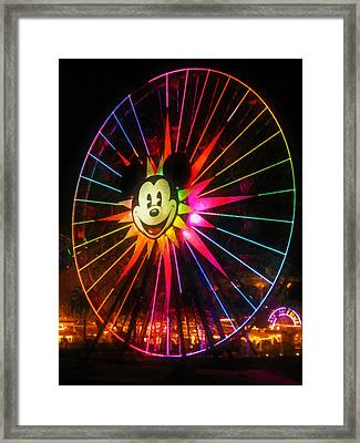 Mickey's Fun Wheel 1 Framed Print by Lanjee Chee
