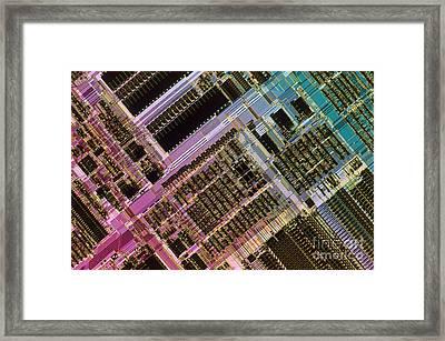 Microprocessors Framed Print by Michael W. Davidson