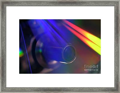 Microscope Lens And Light Beams Framed Print by Sami Sarkis