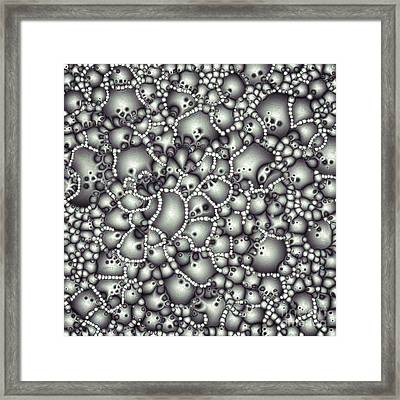 Microscopic Abstract Shapes Framed Print by Phil Perkins