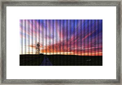 Microwave Morning - The Slat Collection Framed Print by Bill Kesler