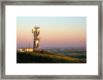 Microwave Tower Framed Print by Todd Klassy