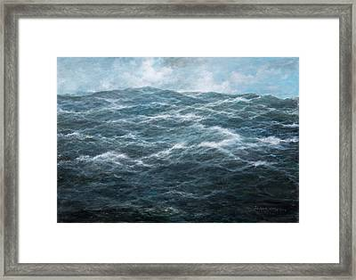 Mid Atlantic Framed Print by Richard Willis
