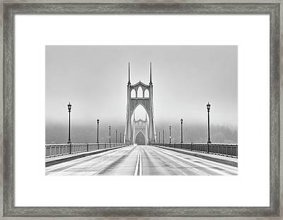 Middle Of Bridge Framed Print by Chad Latta