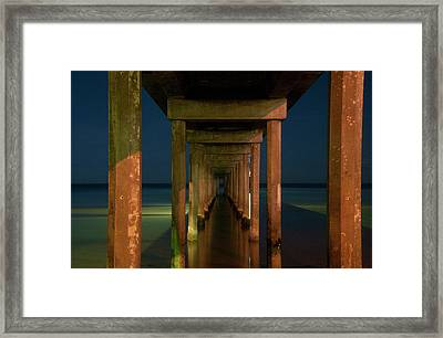 Midnight At Brighton Jetty Framed Print by Andrew Dickman