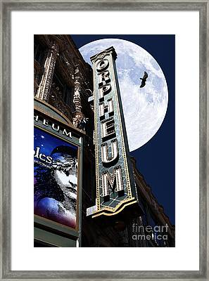 Midnight At The Orpheum - San Francisco California - 5d17991 Framed Print by Wingsdomain Art and Photography
