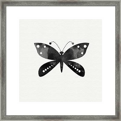 Midnight Butterfly 4- Art By Linda Woods Framed Print by Linda Woods