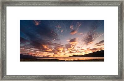 Midnight Glow Framed Print by Tor-Ivar Naess
