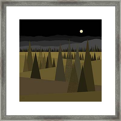 Midnight Greens Framed Print by Val Arie