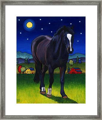 Midnight Horse Framed Print by Stacey Neumiller