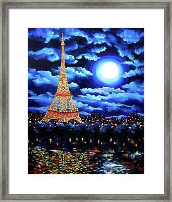 Midnight In Paris Framed Print by Laura Iverson