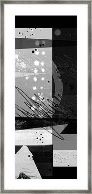 Midnight In The City 1 Triptych Framed Print by Ann Powell