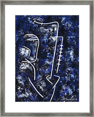 Midnight Jazz With Ben Webster Framed Print by Kamil Swiatek