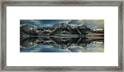 Midnight Lake Framed Print by Adrian Evans